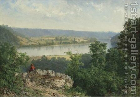 Hudson River View by Alexander Helwig Wyant - Reproduction Oil Painting