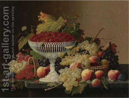 Still Life With Fruit 6 by Severin Roesen - Reproduction Oil Painting