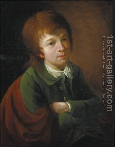 Portrait Of A Young Boy 2 by (after) Nathaniel Hone - Reproduction Oil Painting