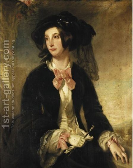 Portrait Of Frances Mary Vassall Tunnard-Moore by James Pardon - Reproduction Oil Painting