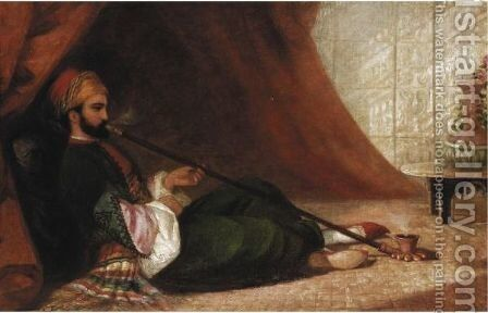 Hookah Smoker by (after) Adelaide Claxton - Reproduction Oil Painting