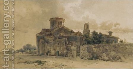 Church Of St Jason, Corfu by Angelos Giallina - Reproduction Oil Painting