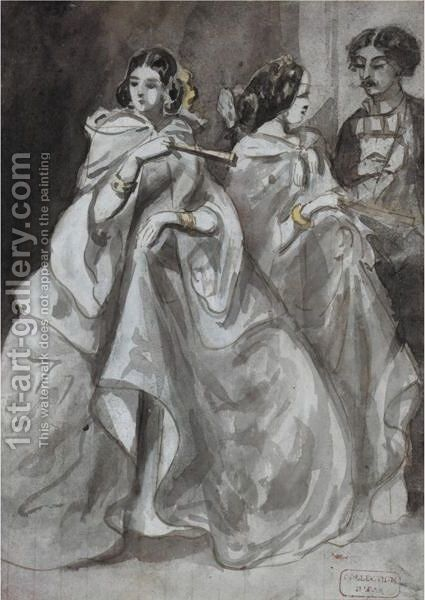 At The Ball by (after) Constantin Guys - Reproduction Oil Painting