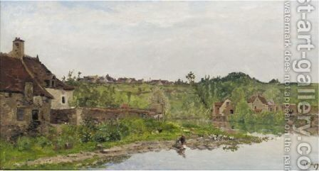 Lavandiere 2 by Hippolyte Camille Delpy - Reproduction Oil Painting