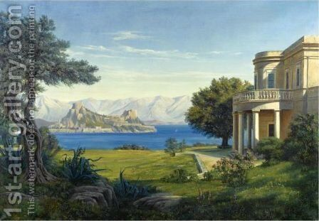 Mon Repos, Corfu by Danish School - Reproduction Oil Painting