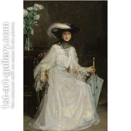 Lady Evelyn Farquhar by Sir John Lavery - Reproduction Oil Painting