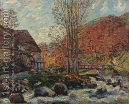 Le Moulin Brigand by Armand Guillaumin - Reproduction Oil Painting