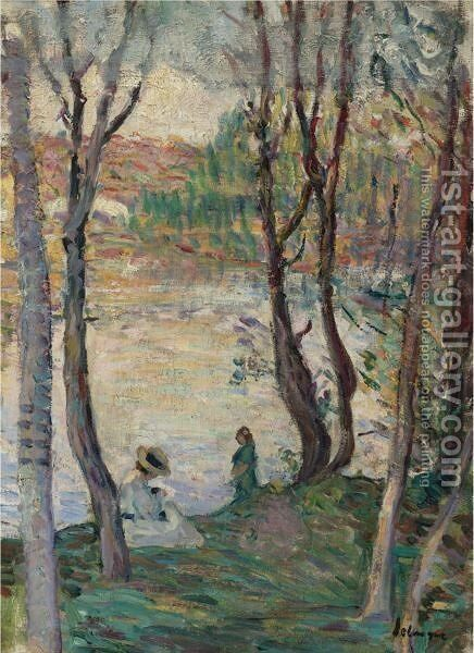 Le Repos Au Bord Du Yaudet by Henri Lebasque - Reproduction Oil Painting