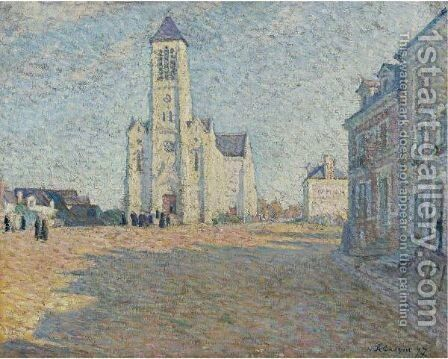 Eglise Dans Un Village by Henri Lebasque - Reproduction Oil Painting