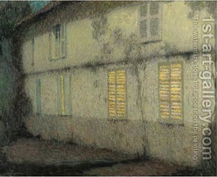 Les Volets Clos, Gerberoy by Henri Eugene Augustin Le Sidaner - Reproduction Oil Painting