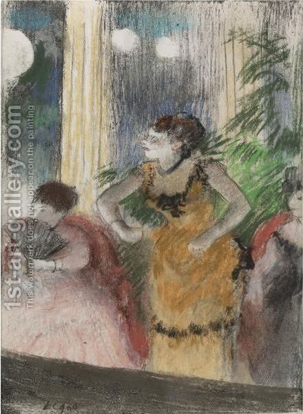 Cafe-Concert by Edgar Degas - Reproduction Oil Painting