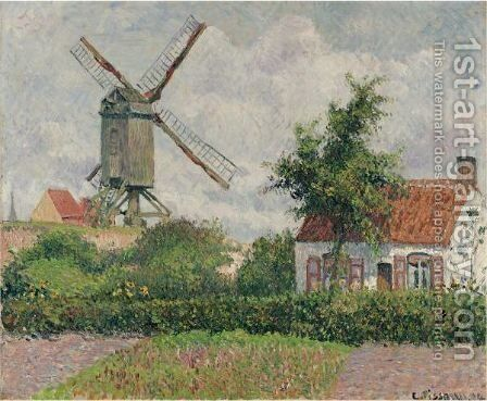 Le Kalfmolen A Knokke by Camille Pissarro - Reproduction Oil Painting