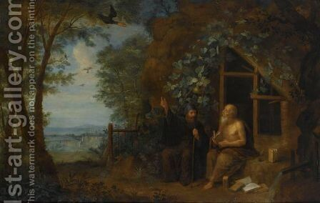 St. Paul And St. Antony The Great Fed By The Raven by Isaac Cruikshank - Reproduction Oil Painting
