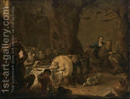 The Temptation Of Saint Anthony by Cornelis Saftleven - Reproduction Oil Painting