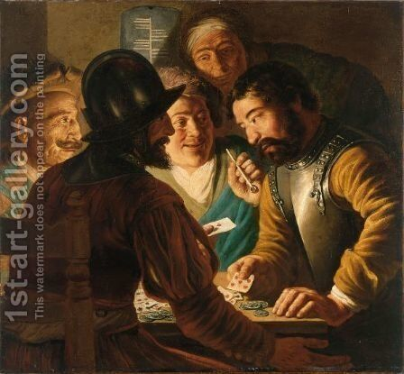 The Card Players by Jan Lievens - Reproduction Oil Painting