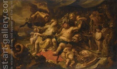 The Triumph Of Bacchus by (after) Simon De Vos - Reproduction Oil Painting