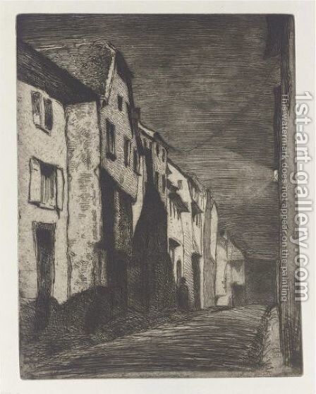 Street At Saverne by James Abbott McNeill Whistler - Reproduction Oil Painting