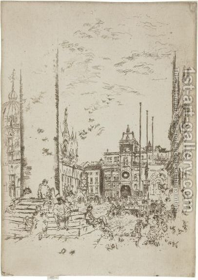 The Piazzetta by James Abbott McNeill Whistler - Reproduction Oil Painting