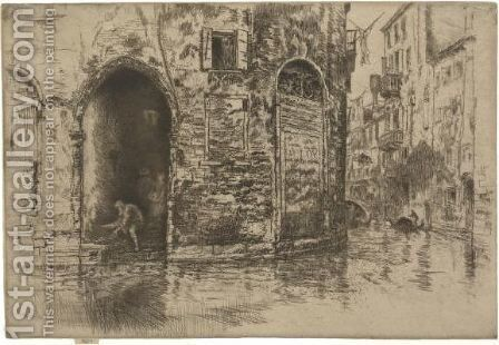 Two Doorways 2 by James Abbott McNeill Whistler - Reproduction Oil Painting