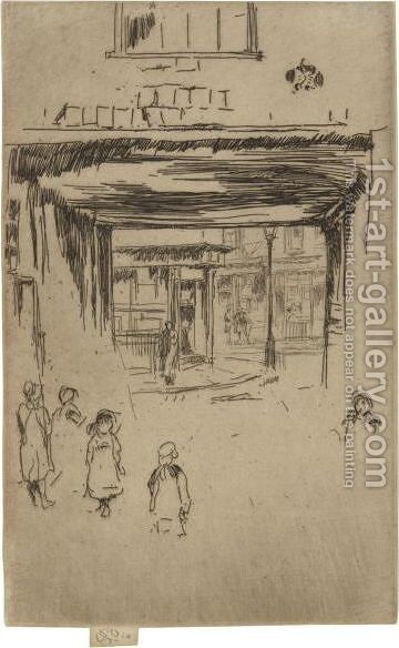 Drury Lane by James Abbott McNeill Whistler - Reproduction Oil Painting