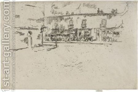 Jubilee Place, Chelsea by James Abbott McNeill Whistler - Reproduction Oil Painting