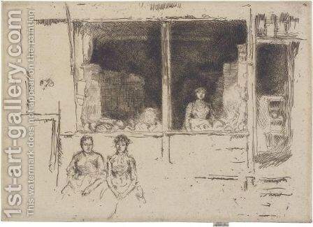 Melon-Shop, Hounsditch by James Abbott McNeill Whistler - Reproduction Oil Painting