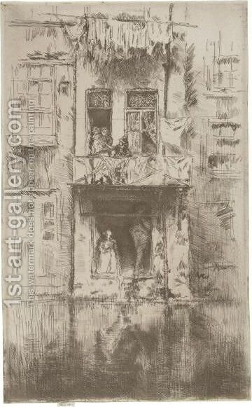 Balcony, Amsterdam by James Abbott McNeill Whistler - Reproduction Oil Painting