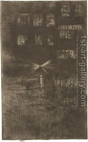 Nocturne Dance-House 2 by James Abbott McNeill Whistler - Reproduction Oil Painting