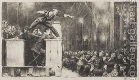 Billy Sunday by George Wesley Bellows - Reproduction Oil Painting