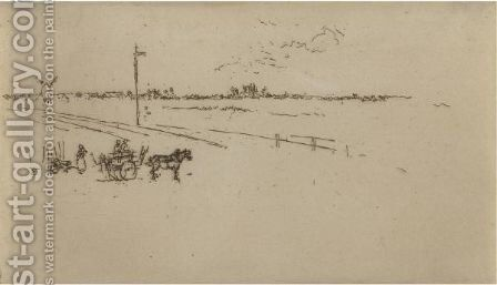 Railway-Station, Voves by James Abbott McNeill Whistler - Reproduction Oil Painting