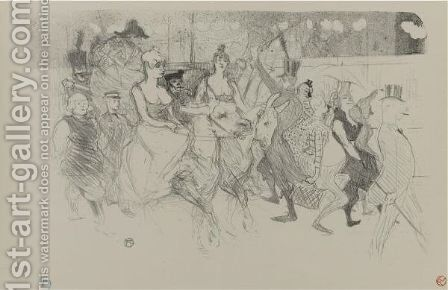 Une Redoute Au Moulin Rouge by Toulouse-Lautrec - Reproduction Oil Painting