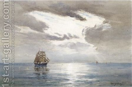 Sky Clearing At Sea by David West - Reproduction Oil Painting
