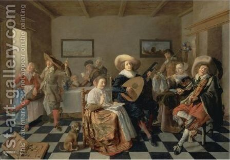 A Merry Company by Jan Miense Molenaer - Reproduction Oil Painting