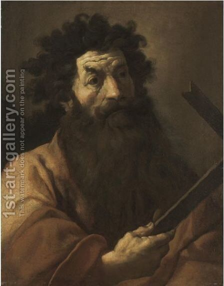 Saint Thomas by (after) Domenico Fetti - Reproduction Oil Painting