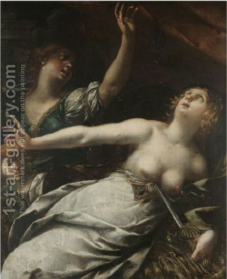 The Death Of Lucretia by Stefano Danedi - Reproduction Oil Painting