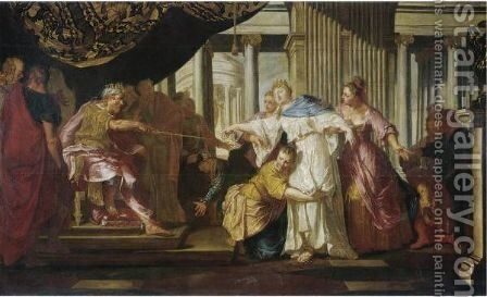 Esther And Ahasuerus by Daniele Heintz - Reproduction Oil Painting
