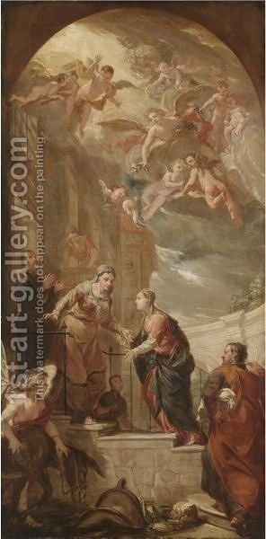 The Visitation by Antonio Bellucci - Reproduction Oil Painting