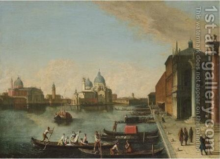 Venice, A View Of The Bacino Di San Marco With Santa Maria Della Salute Beyond by (after) Johann Richter - Reproduction Oil Painting