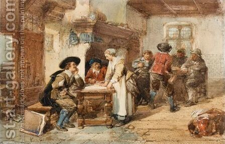 A Merry Company In An Interior by Herman Frederik Carel ten Kate - Reproduction Oil Painting