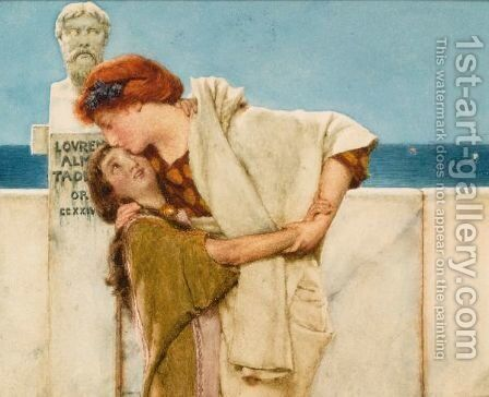 Motherly Love by Sir Lawrence Alma-Tadema - Reproduction Oil Painting