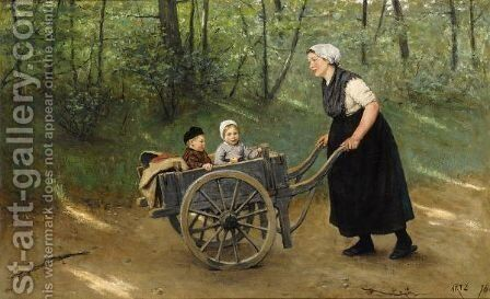 A Joyful Ride by David Adolf Constant Artz - Reproduction Oil Painting