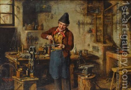 The Lock Maker by Hermann Kern - Reproduction Oil Painting