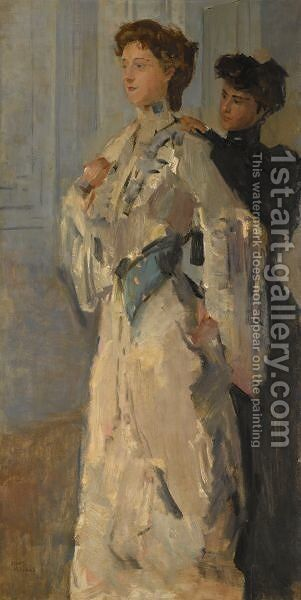 Les Essayeuses by Isaac Israels - Reproduction Oil Painting