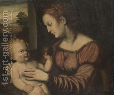 The Madonna And Child by Brescian School - Reproduction Oil Painting