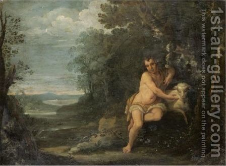 Saint John The Baptist In The Wilderness by Annibale Carracci - Reproduction Oil Painting