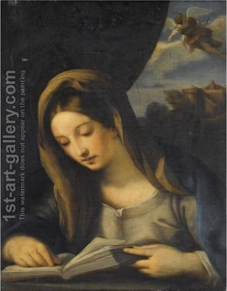 The Annunciation by (after) Carlo Maratta Or Maratti - Reproduction Oil Painting