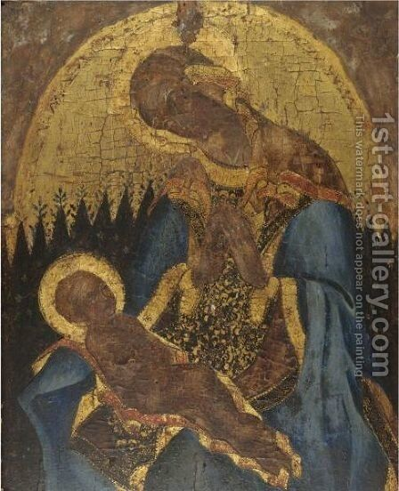 Madonna And Child 5 by Italian School - Reproduction Oil Painting