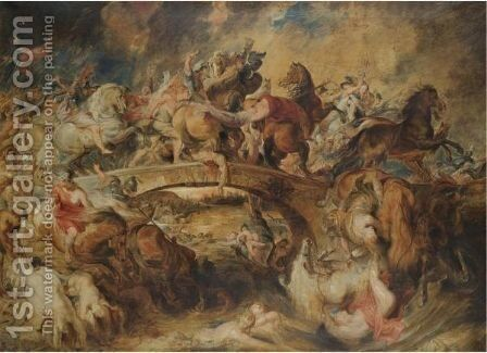The Battle Of The Amazons 2 by (after) Sir Peter Paul Rubens - Reproduction Oil Painting