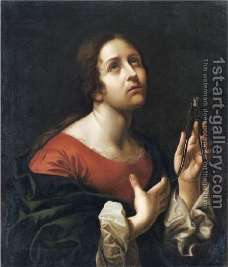Saint Apollonia by (after) Carlo Dolci - Reproduction Oil Painting