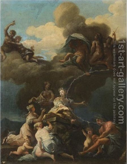 The Triumph Of Flora by (after) Giovanni Camillo Sagrestani - Reproduction Oil Painting